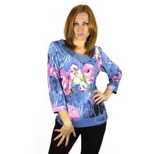 BFDADI Женская одежда бросился регулярный цветочные женские футболки 2016 Большой размер горячая распродажа цветок горный хрусталь с v-образным вырезом футболки женские блузка 3303(China (Mainland))