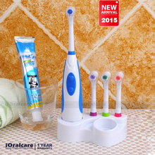New 2015 Battery Electric Toothbrush Ultrasonic Sonic Rotary Electric Toothbrush No Rechargeable Tooth Brush Electric(China (Mainland))