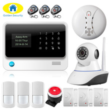 Buy Wireless WiFi Camera GSM GPRS SMS Home Security Alarm System English/Russian/Spanish/French/Turkish/Netherlands/Swedish Voice for $99.99 in AliExpress store