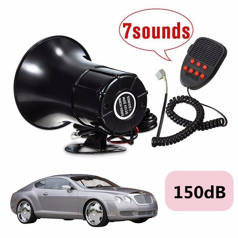 New Car Van Truck Boat Horn Sound Loud 12V 50W 7 Sounds Tone Horn Siren Speaker Alarm 150dB CSL2017(China (Mainland))