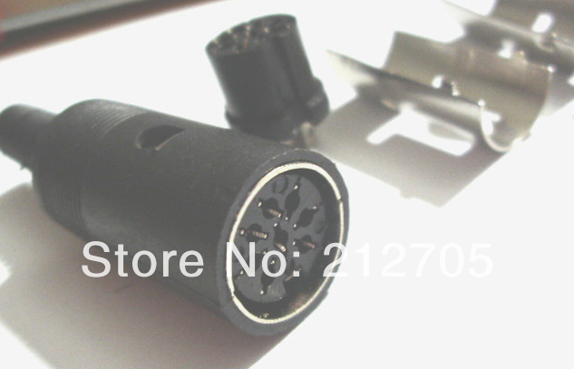 20 pcs 8 Pin DIN Female Connector with black Plastic Handle(China (Mainland))
