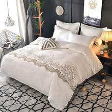 Light Luxury Lace Duvet Cover Set With Pillowcase Single Double Queen King Size Bedding Sets Without Bed Sheet(China)