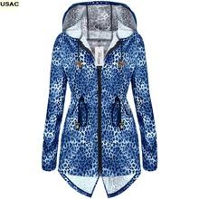 Girls Women'S Hooded Leopard Rain Jacket Women Long Sleeve Fishtail Rain Coat Rainwear Long Waterproof Raincoat Capa Lluvia R20(China (Mainland))