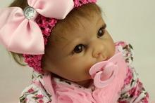 Возрождается куклы, Рост ребенка партнеры, Повязка на голову розовый маленький сафлоровое , чтобы сопровождать немного принцесса 22 »