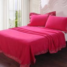 100% cotton plain embroidered multifunctional blanket towel piece set wedding bedding gift box(China (Mainland))