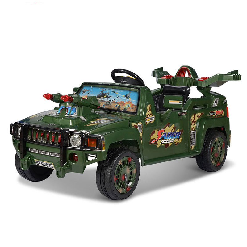 HT hummer remote control electric battery MP3 buggies with brake function to adjust Music Ride on Toys Cars for Children kids(China (Mainland))