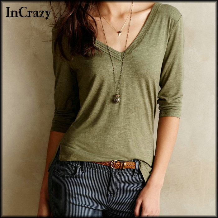 Fashion Women Cheap Clothes New 2015 Autumn High Designer Branded Casual Sale Street Canday Colors Half Sleeve Cotton T-shirt - InCrazy store