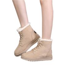 Botas femininas botas mujer botas 2015 nuevas botas de invierno con cordones del tobillo plana botas para mujer de la nieve caliente botas moda mujeres zapatos DT40(China (Mainland))