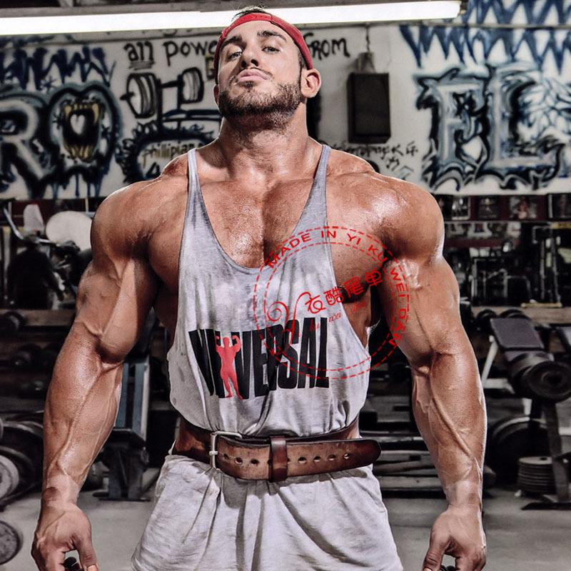 2015 Gym Fitness Tank Top Men Stringer LOA Bodybuilding Muscle Shirt Workout Vest Cotton Sport Undershirt Plus Size gymshark(China (Mainland))