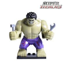1PC Marvel Hulk Diy Action Figures Super Heroes Avengers Building Blocks Bricks Star Wars Kids Toys Hobbies Gift Xmas - Five-Stars Store store