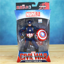 """Marvel vingadores 3 guerra infinita 6 """"homem aranha de ferro capitão américa homem aranha pantera negra visão falcon figura de ação brinquedos boneca(China)"""