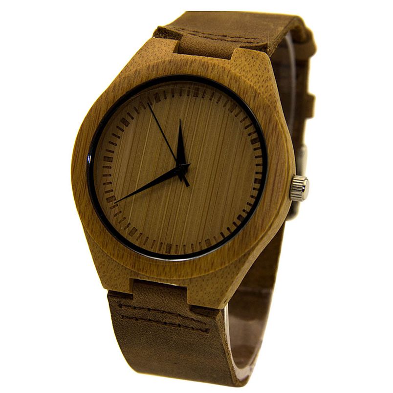Free shipping Cel Hot New Leather Bamboo Wooden Wrist Watches JA<br><br>Aliexpress