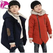 New Brand 2015 Autumn Winter Kid's Fashion & Casual Jackets Boy's Cashmere Long Sleeve Hooded Coats Kids Warm Clothing