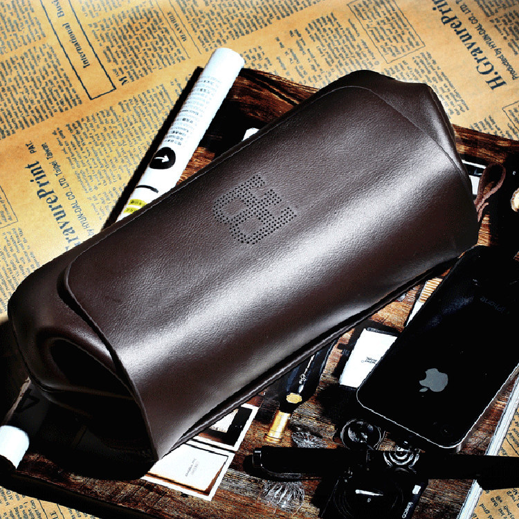 Гаджет  Unique design Famous brand genuine leather bag High quality Business Casual men clutch bag Cowhide handbags Long wallets purses  None Камера и Сумки