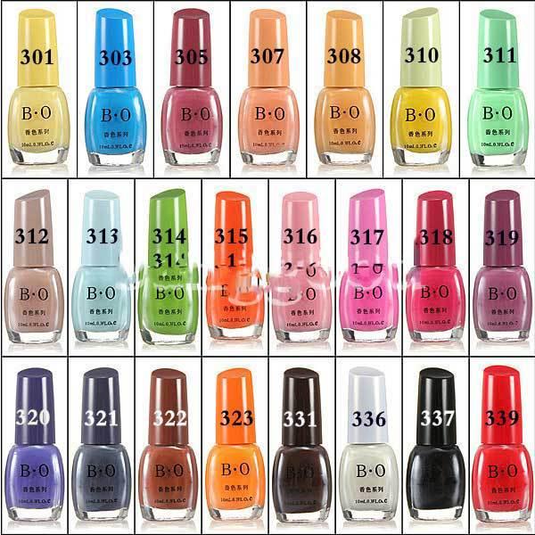 Downey Fashion Flavorful Candy Color Nail Art Polish Lacquer Varnish 10ml(China (Mainland))