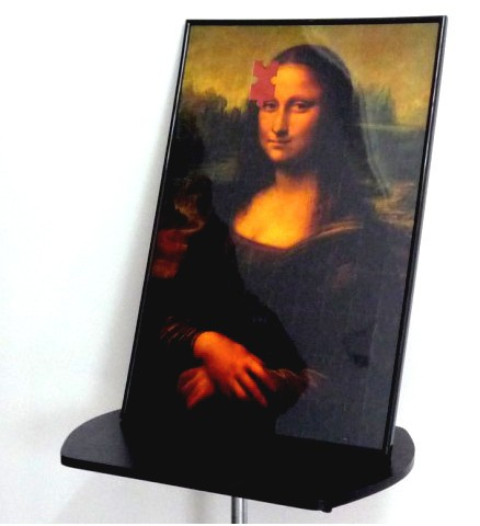 2014 stage mentalism magic trick - Mona Lisa Smile puzzle photo frame/Deluxe Magic Puzzle, card magic,props comedy,mental magic(China (Mainland))