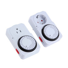 Worldwide EU Plug 24 Hour Programmable Mechanical Electrical Plug Program Timer Power Switch Energy Saver(China (Mainland))