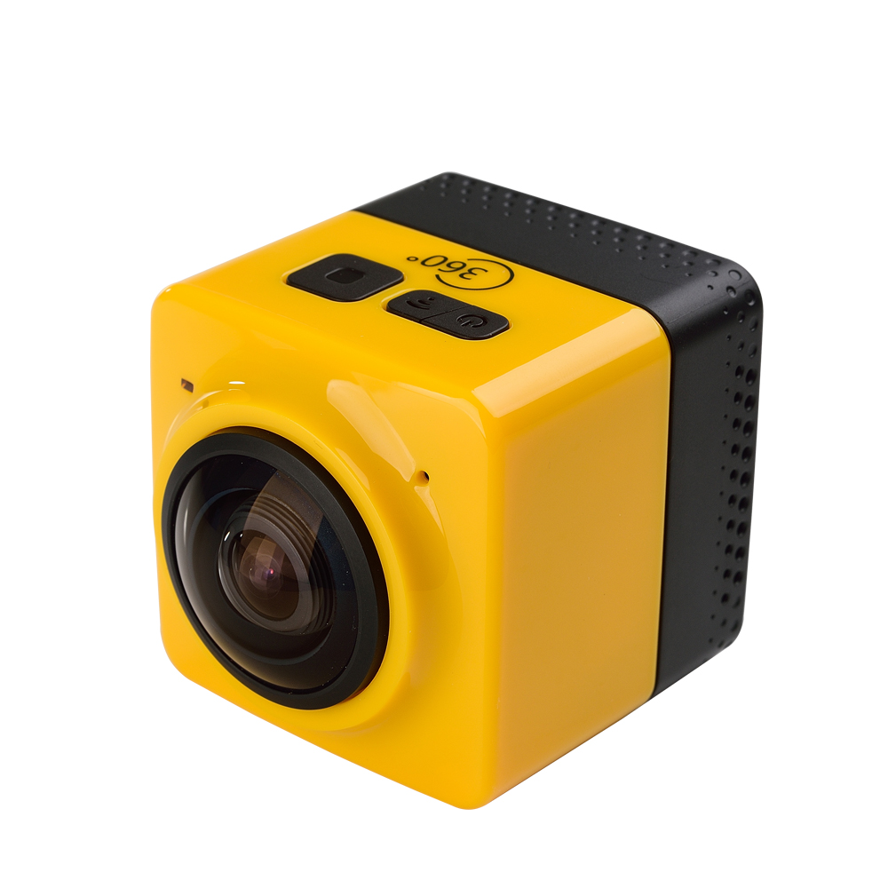 CUBE 360 Mini Sports Action Camera 720P 360-degree Panoramic VR Camera Build-in WiFi H.264 360x190 Large Panoramic Video Camera