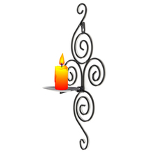 Handmade Iron Hanging Wall Sconce Candle Holder Shelf Furnishing Articles Home Decoration Candlestick Holders(China (Mainland))