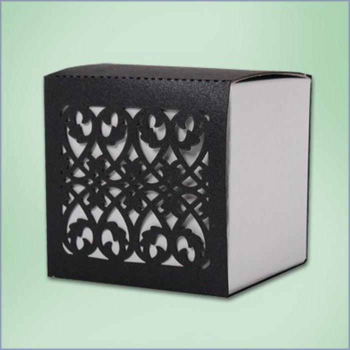Black Flower Pattern Wedding Favor Boxes Gift Box Candy Box(China (Mainland))