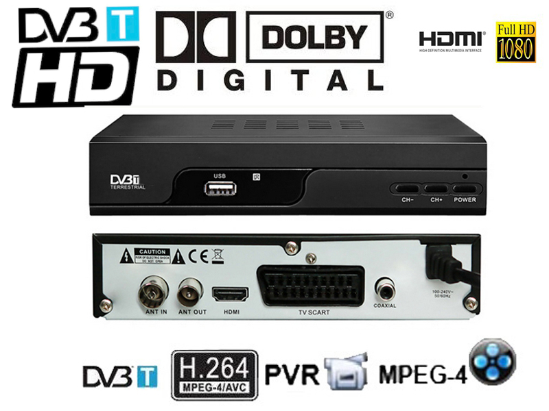 Dolby AC3 HD DVB-T watch France HD channels H.264/Mpeg4 Mini Scart Terrestrial Receiver Tv Tuner Dvb-t Freeview Box HDTV(China (Mainland))
