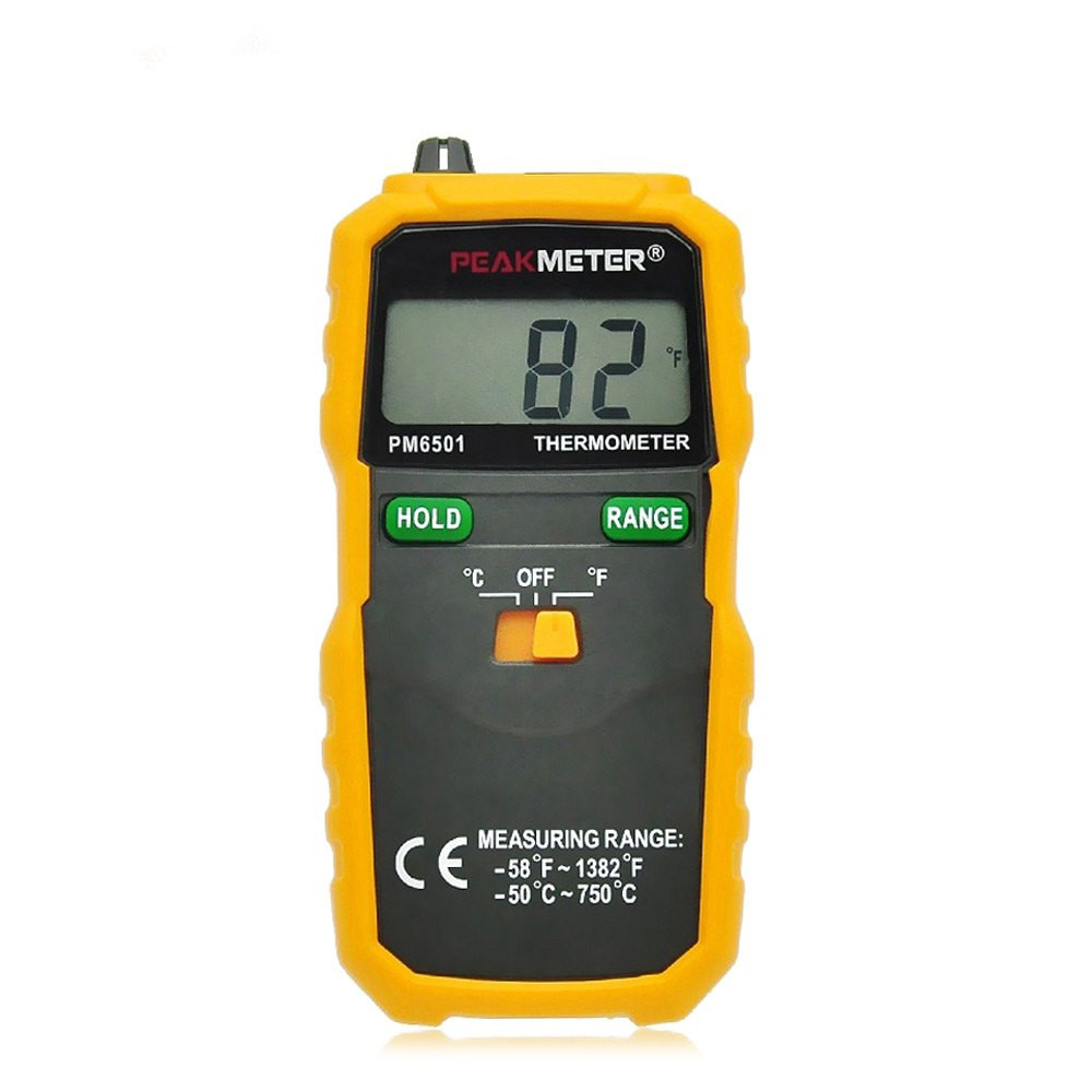 PEAKMETER PM6501 LCD Wireless K Type Digital High Accuracy Thermometer Temperature Meter Thermocouple W/ Data Hold/Logging(China (Mainland))