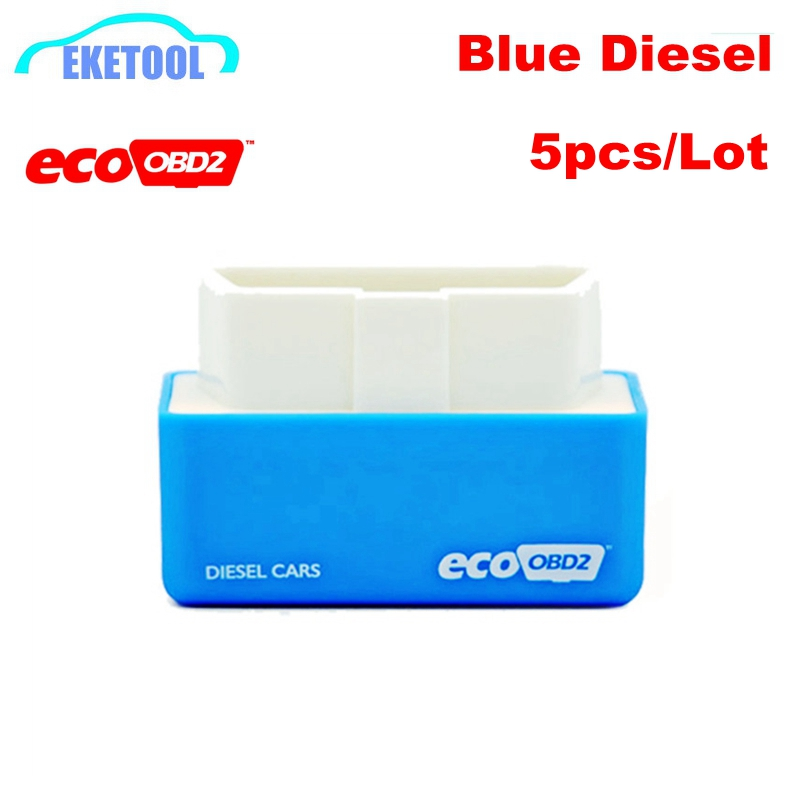 5pcs/Lot EcoOBD2 Diesel Blue Color Auto Professional ECU Chip Tuning High Quality ECO OBD2 Lower Fuel Lower Emission Adjustable(China (Mainland))