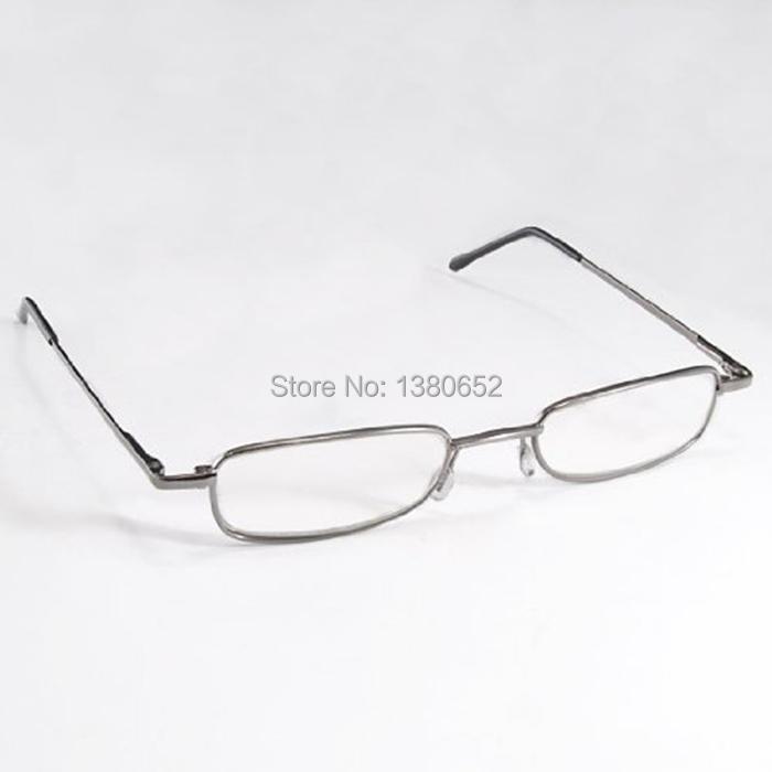 Eye Care Stainless Steel Full Frame Travel Pocket Eyewear Slim Folding Foldable Reading Glasses+1.0 +1.5 +2.0 +2.5 +3.0 With Box(China (Mainland))