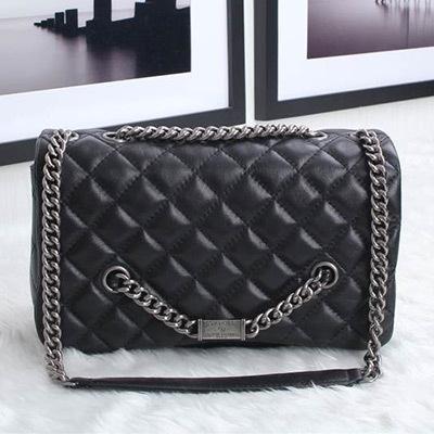 Здесь можно купить  Soft Lambskin Quilted Chain Flap Genuine Leather Women Shoulder Bag,High Quality New 2014 Designer Brand Cross Body Bag,Bolsos  Камера и Сумки