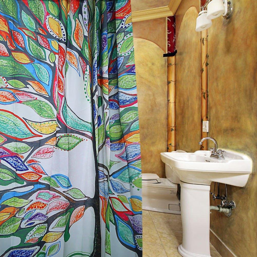nouvelle coloreacute arbre conception modegravele de rideau de douche impermeacuteable agrave - Rideau De Douche Color