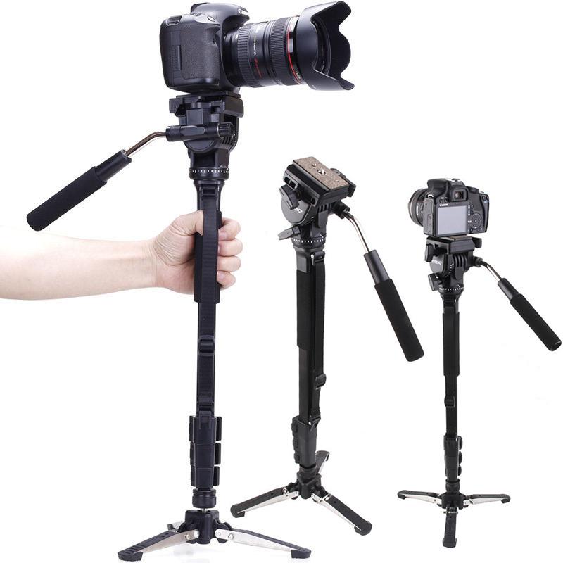 Гаджет  Yunteng C288 Pro Monopod + Fluid Pan Head Ball + DV Unipod Mobile Phone Clip Holder For Canon Nikon DSLR Camera VCT-288 None Бытовая электроника
