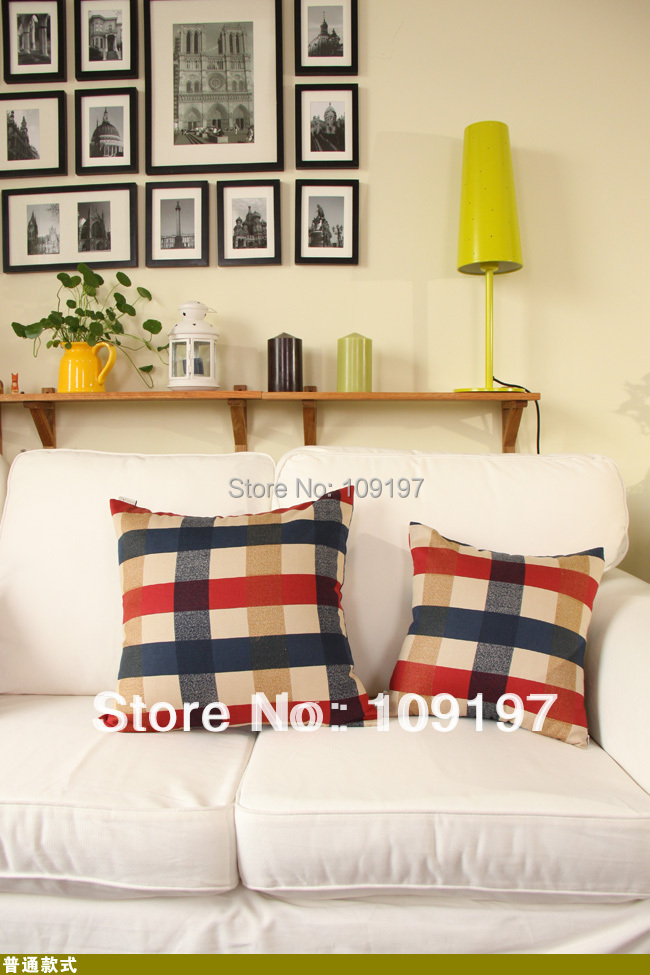 Wholesale! best selling linen cotton fabric sofa decoration car living room chair back pillow cushion HFBB-09 35cm*45cm(China (Mainland))