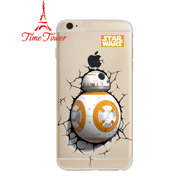 Star Wars The Force Awakens Bb-8 Droid Robot For Iphone 6 Transparent Case Soft Tpu Cover