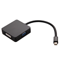 Mini Display Port DP Thunderbolt to DVI VGA HDMI Adapter Cable For MacBook High Quality