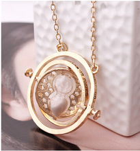 New Arrival 7 colors 18K Gold Plated Time Turner Necklace Hermione Granger 100 pcs/lot DHL free(China (Mainland))
