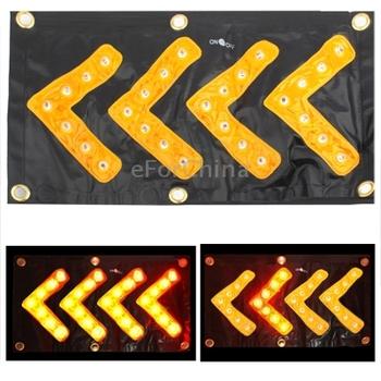 Yellow 36 LED Car Safety Hazard Traffic Direction Signal Sign