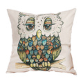 new arrival cheap price 45cm 45cm owl pattern cushion cover cotton linen home decor case throw