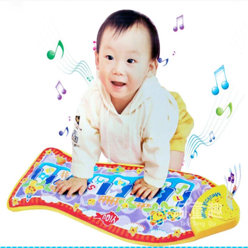 New Hot Baby Kid Child Piano Music Fish Animal Mat Touch Kick Play Fun Learning & Education Toy Gift New #25295(China (Mainland))
