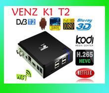 K1 T2 TV BOX DVB-T2 Android 4.4 Quad Core Amlogic S805 1GB Ram 8GB Rom Terrestrial TV Receiver KODI WIFI Bluetooth Free Shipping