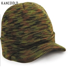New Design 2016 Hot Sale Esco Peaked Army Beanie Hat Warm Wooly Winter Mens Ladies Cadet Cap Aug31 send in 2 days(China (Mainland))