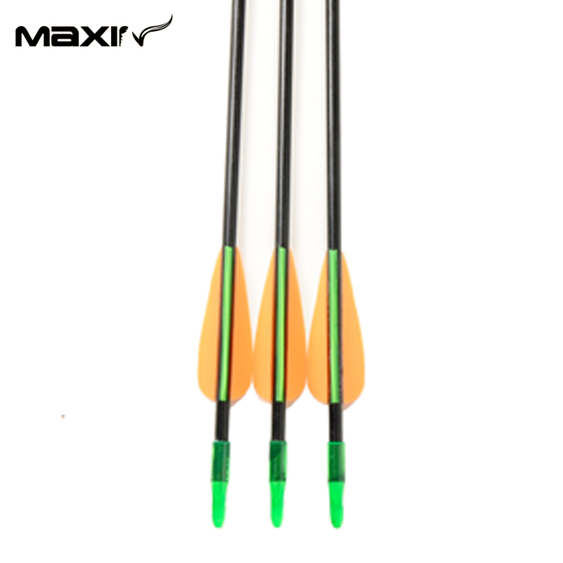 2015 Maxin 30inch Length Arrow 6mm Shaft Fiberglass Plastic Fletching Archery Hunting Arrows For Compound Bow