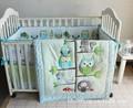 Promotion 7PCS Woodpecker Nursery Bed Bed Linen Baby Cot Crib Bedding Set Kit Blanket Bumper bumper