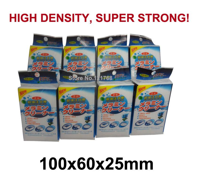 White Magic sponge nano Melamine sponge HIGH DENSITY SUPER STRONG 100x60x25mm with individual package(China (Mainland))