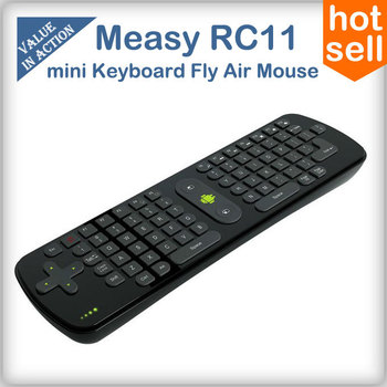 Measy RC11 2.4G mini Wireless Keyboard Fly Air Mouse teclado Remote Controller for Android Smart TV Box Desktop Laptop Mini PC