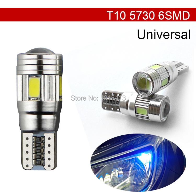 Car Auto LED T10 194 W5W Canbus 6 SMD 5630 5730 LED Light Bulb No error led parking Fog light Auto No Error univera car light(China (Mainland))