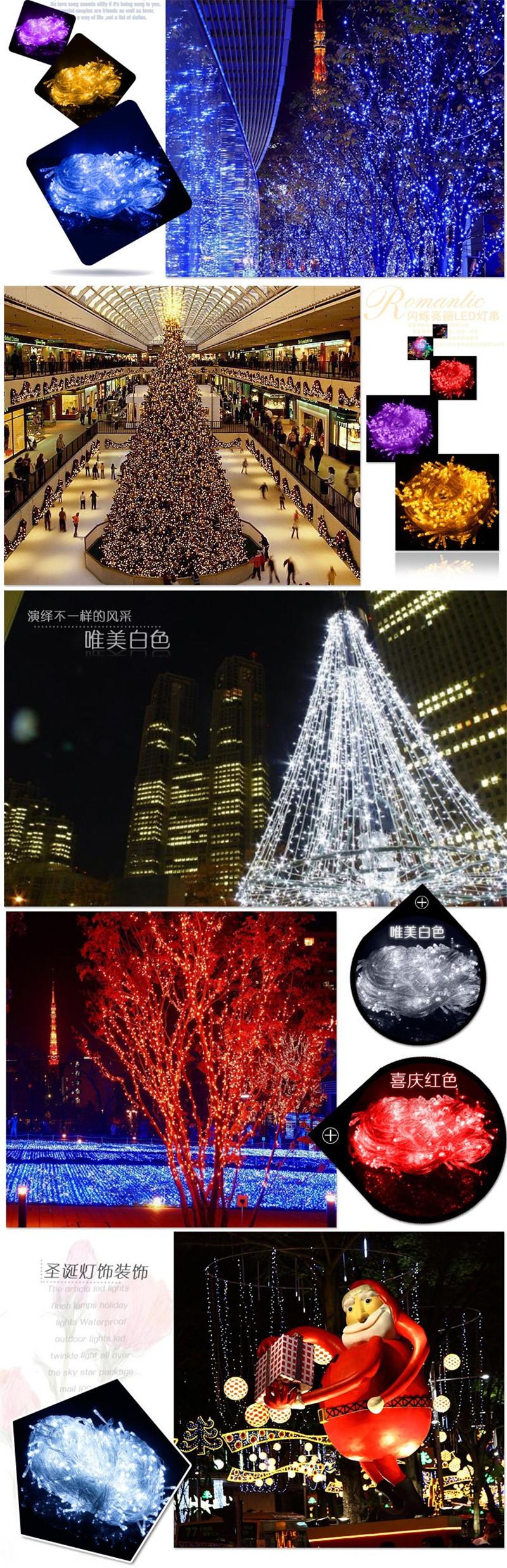 400-600 LED Fairy String Christmas Tree Party Lights Lamp Xmas Decor Waterproof