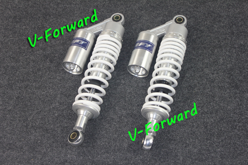 """13.5"""" 340MM RFY Air Gas White Shock Absorber for on Round 50CC~1000CC All Motorcycle modification Universal(China (Mainland))"""