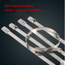 25Pcs Stainless Steel Zip Ties Straps Fits Motor Motorcycle Exhaust Header Wrap(China (Mainland))
