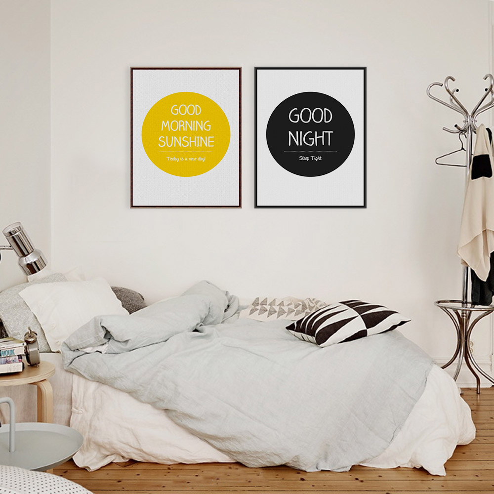Black White Modern Inspirational Quotes Typography Poster Minimalist Big Wood