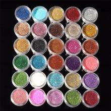 30pcs Mixed Colors Powder Pigment Glitter Mineral Spangle Eyeshadow Makeup Cosmetic Set Long-lasting 2016 Random Color(China (Mainland))